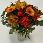 kytice z růží, minigerber, alstromerií - doručení květin Olomouc