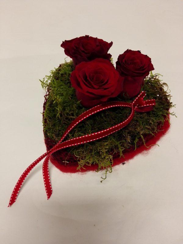 Srdce se třemi růžemi