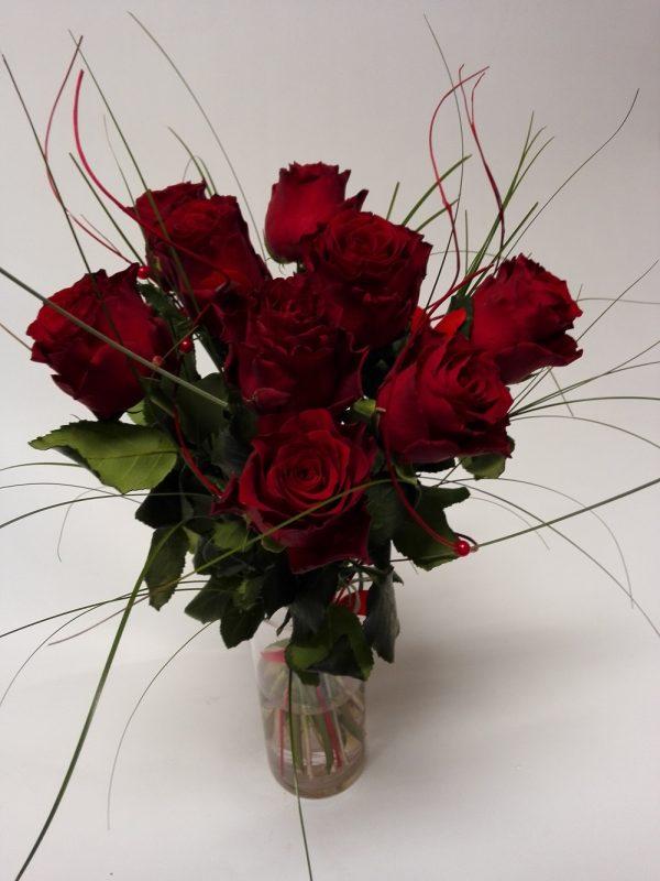 Rudé růže rozvoz květin Olomouc