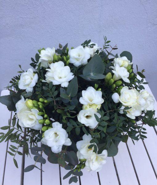 plnokvěté frézie s eukalyptem rozvoz květin olomouc