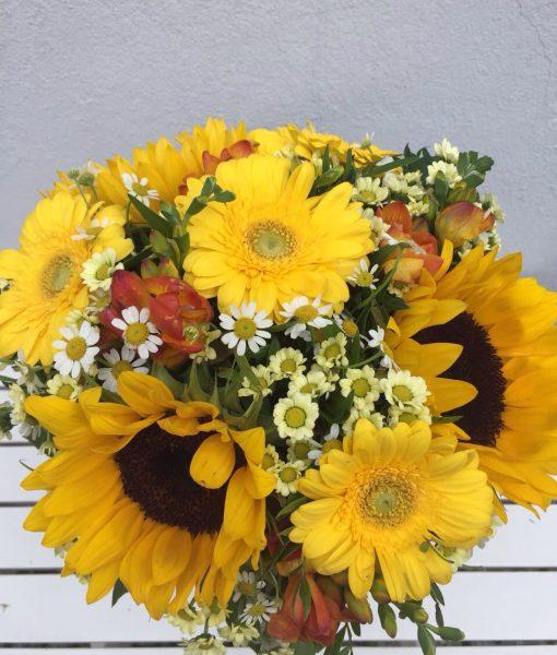 slunečnice – rozvoz květin Olomouc