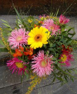 barevná kytice rozvoz květin olomouc