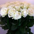 Kytice 30 bílých růží