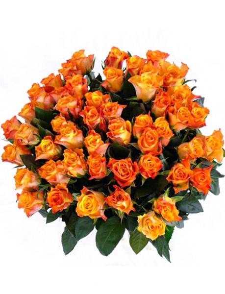 Oranžové růže – rozvoz květin Olomouc
