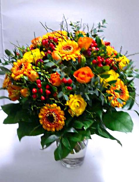 Kytice Teplé barvy – rozvoz květin Olomouc